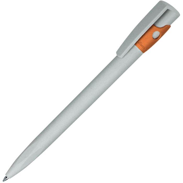 Ручка шариковая KIKI ECOLINE, экопластик, цвет жёлтый, цвет серый с оранжевым