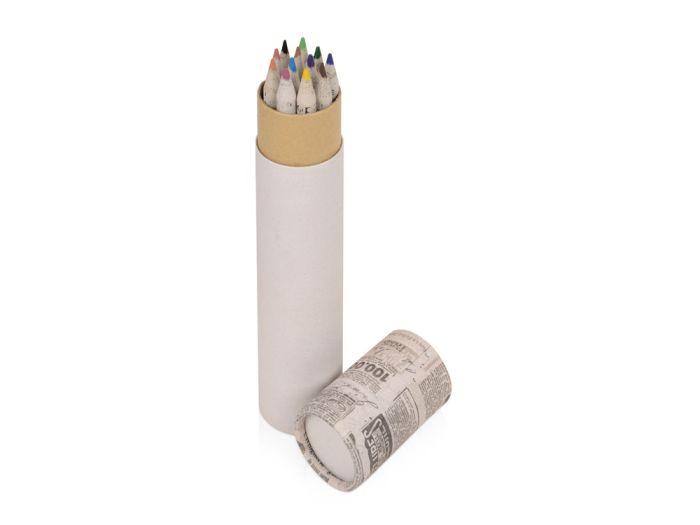 """Набор цветных карандашей из """"газетной бумаги"""" в тубе """"News"""""""