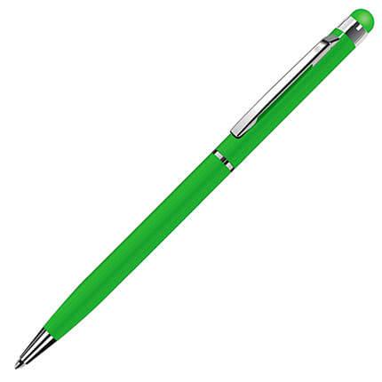 """Ручка шариковая """"TOUCHWRITER"""" со стилусом для сенсорных экранов, цвет светло-зелёный"""