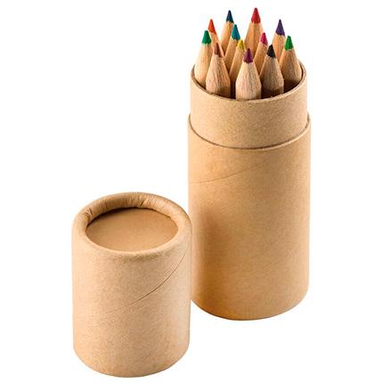 """Набор """"Игра цвета"""": 12 цветных карандашей в картонном тубусе"""