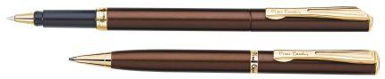 Набор: ручка шариковая и роллер Pierre Cardin PEN and PEN, цвет коричневый