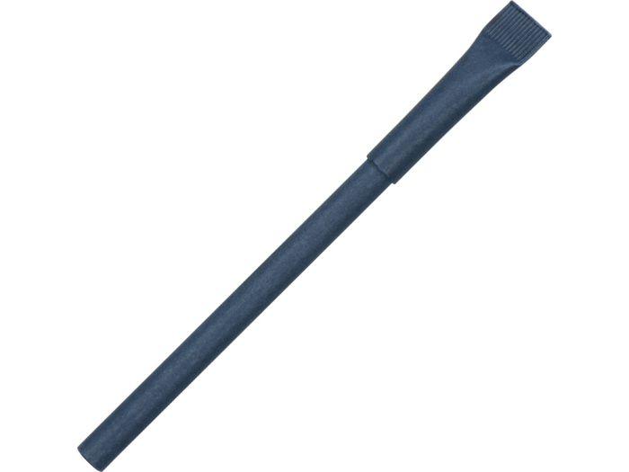 """Ручка картонная с колпачком """"Recycled"""", тёмно-синяя"""