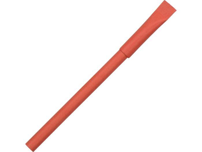 """Ручка картонная с колпачком """"Recycled"""", красная"""