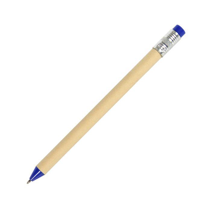 Ручка шариковая N12, цвет бежевый с синим