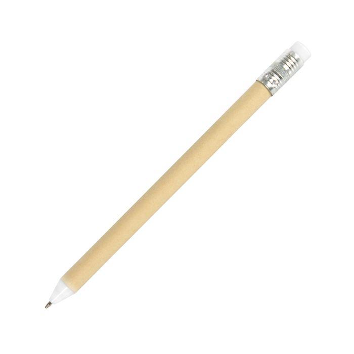Ручка шариковая N12, цвет бежевый с белым