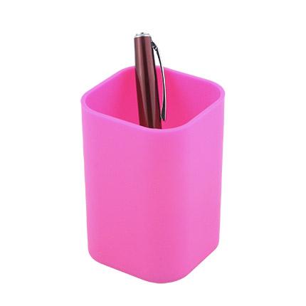 """Подставка-стакан для пишущих принадлежностей """"Quadro"""", цвет розовый"""