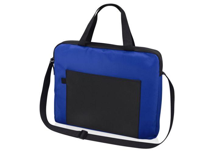 """Конференц сумка для документов """"Congress"""", цвет чёрный с синим"""