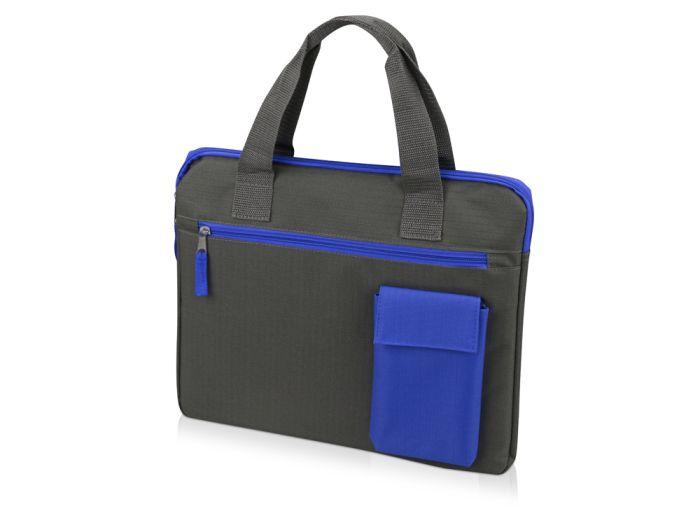 """Конференц сумка для документов """"Session"""", цвет серый с синим"""
