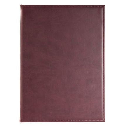 Папка адресная Brand, размер 22,5х31 см (формат A4), цвет бордовый