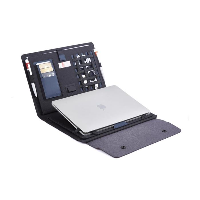Мобильный офис с беспроводным зарядным устройством 5000 mAh, цвет серый/чёрный