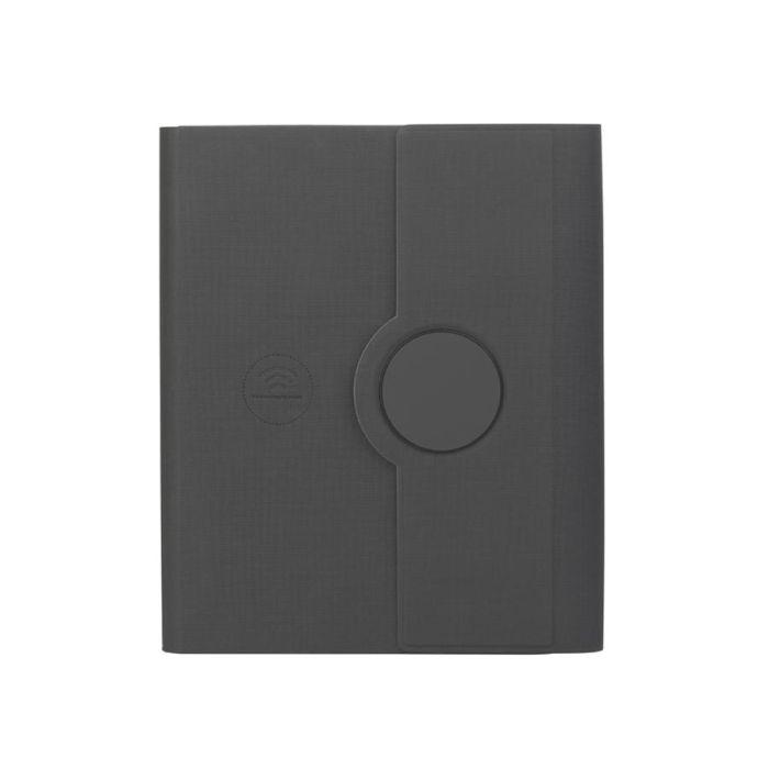 Папка А5 с беспроводным зарядным устройством 5000 mAh и блокнотом, цвет чёрный