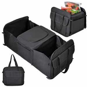 Сумка  с термоотсеком 12 л. для автомобиля (в багажник), цвет черный