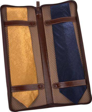 Чехол для галстуков Alessandro Venanzi коричневый