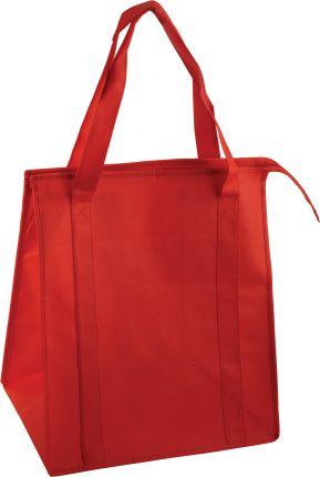Сумка для покупок на молнии, цвет красный
