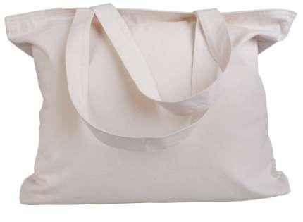 Холщовая сумка с молнией, неокрашенная
