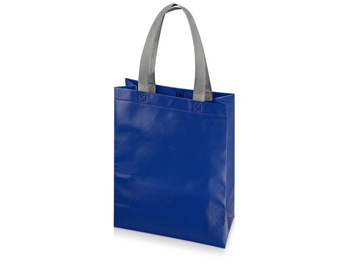 """Сумка для шопинга """"Utility"""" ламинированная, цвет синий глянцевый"""
