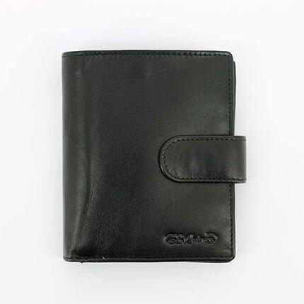 Портмоне S.Quire, цвет черный, размеры 11,5х9 см