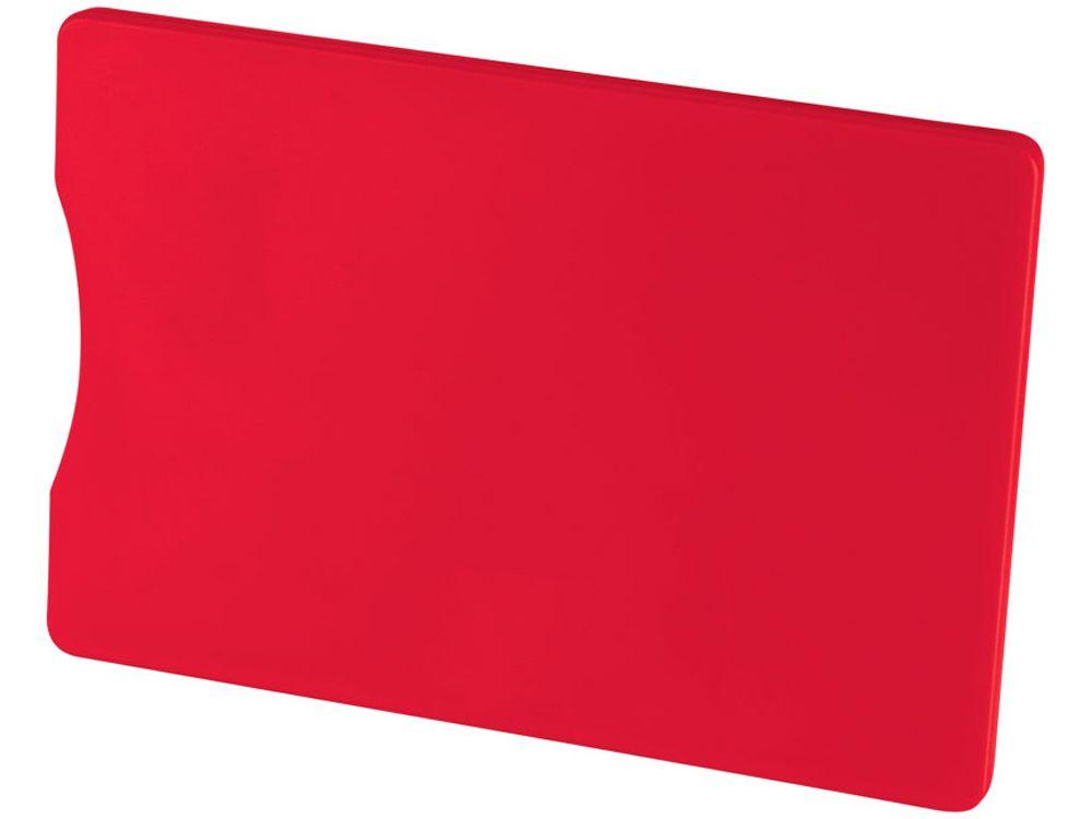 Чехол для кредитных карт с защитой от сканирования (RFID), красный