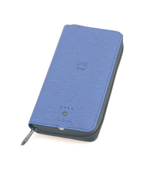 Кошелек с аккумулятором Power Bank 4 000 mAh PIERRE CARDIN, цвет синий
