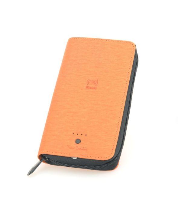 Кошелек с аккумулятором Power Bank 4 000 mAh PIERRE CARDIN, цвет оранжевый