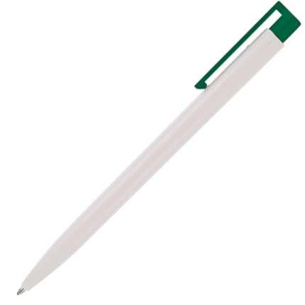 Ручка шариковая Senator, модель New Hit (2727), цвет зелёный / белый