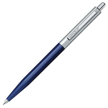 Ручка шариковая Senator, модель Point Polished Metal (2866), цвет синий