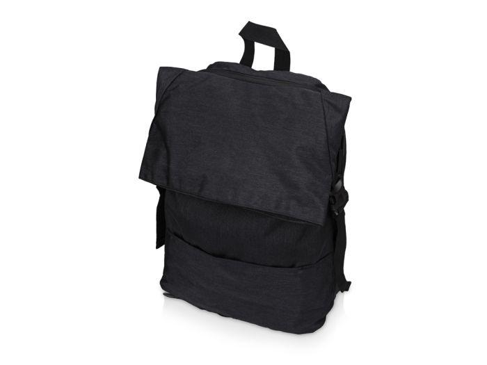 Рюкзак Shed водостойкий с двумя отделениями для ноутбука 15 дюймов, черный