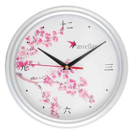 Часы настенные пластиковые, модель 02, диаметр 245 мм, стекло пластиковое, кольцо пластик