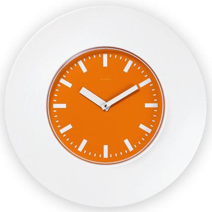 Часы настенные пластиковые, модель 55, диаметр 375 мм, стекло пластиковое, кольцо- пластик шириной 78 мм, цвет белый