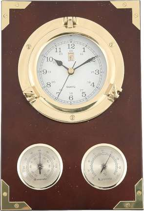 """Часы настенные """"Иллюминатор"""" с термометром и гигрометром, Sea Power, (CK205)"""