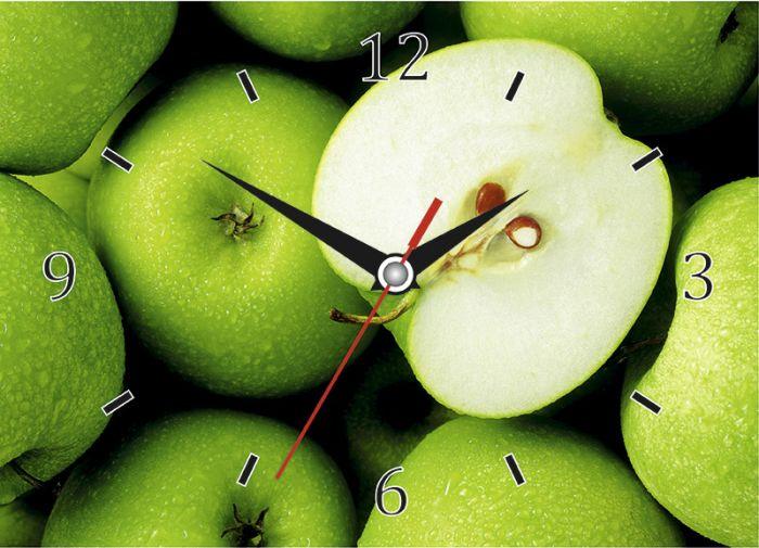 Часы настенные стеклянные с индивидуальным дизайном, прямоугольные, размер 20х28 см