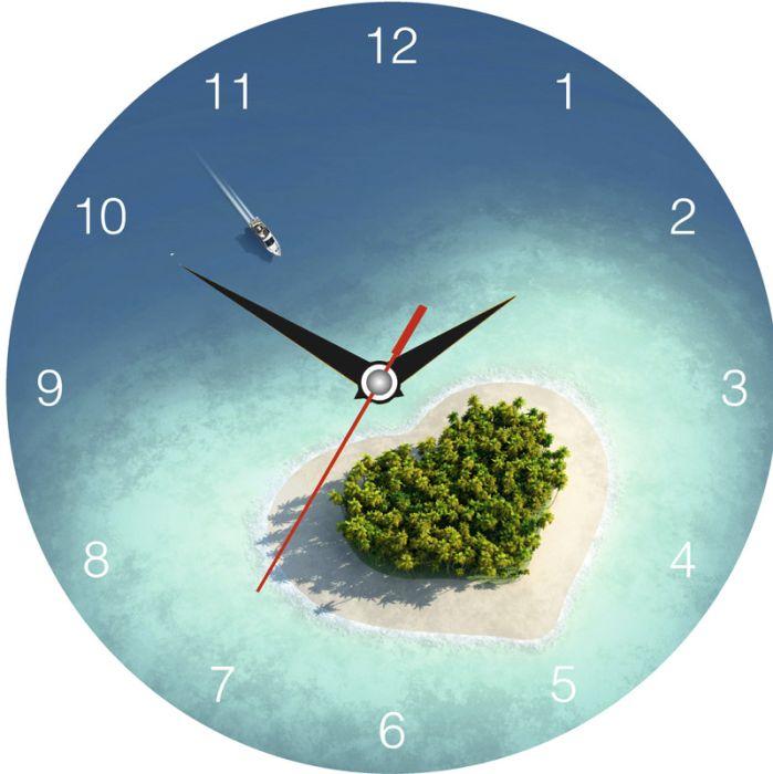 Часы настенные стеклянные с индивидуальным дизайном, круглые, диаметр 40 см