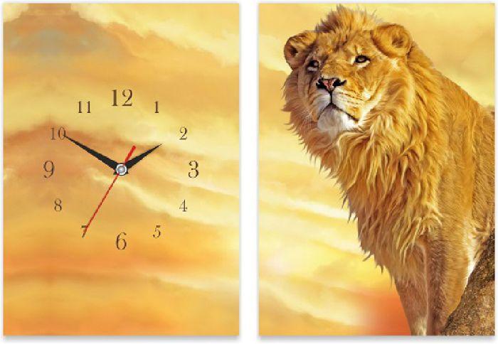 Часы-панно настенные стеклянные с индивидуальным дизайном, размер 28х40 см