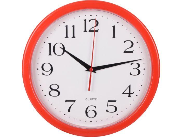 """Часы настенные """"Attendee"""", цвет красный"""