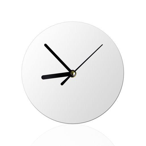 Кристалл с часами (18х18х0,5 см)