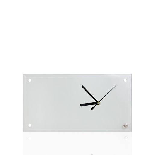 Кристалл с часами (30х16х0,5 см)