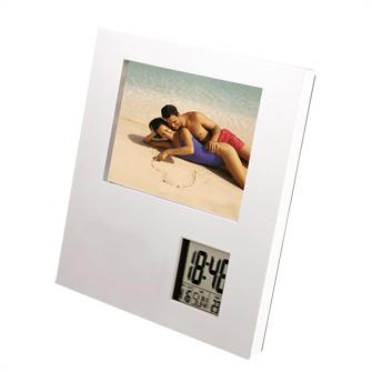 Часы многофункциональные с термометром и рамкой для фотографии