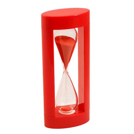 Часы песочные с красным песком, в корпусе из красного пластика, 3 минуты