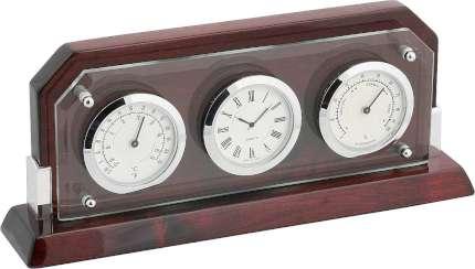 Часы настольные с термометром и гигрометром, Linea del Tempo, (A9256R)