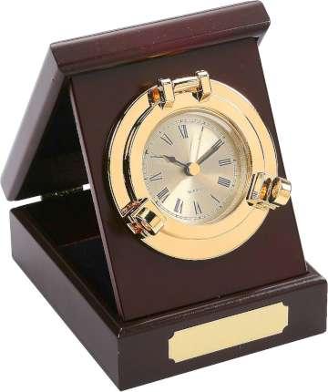 """Часы в деревянной шкатулке """"Иллюминатор"""", Sea Power, (MS001)"""