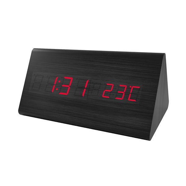 "Perfeo LED часы-будильник ""Pyramid"", PF-S710T время, температура (PF_A4399)"