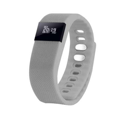 """Смарт браслет (""""умный браслет"""") Portobello Trend, The One, электронный дисплей, силиконовый, серый"""