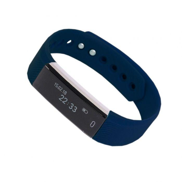 """Смарт браслет (""""умный браслет"""") Portobello Trend, Only, электронный дисплей, синий"""