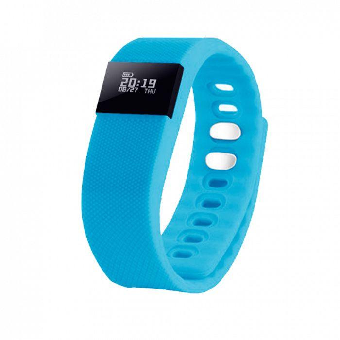"""Смарт браслет (""""умный браслет"""") Portobello Trend, The One, электронный дисплей, голубой"""