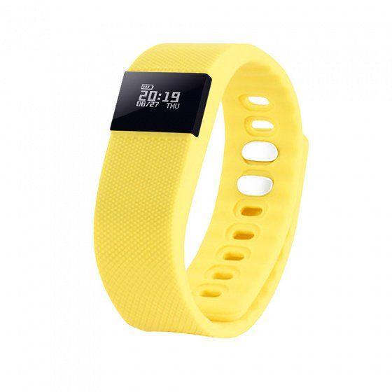 """Смарт браслет (""""умный браслет"""") Portobello Trend, The One, электронный дисплей, жёлтый"""