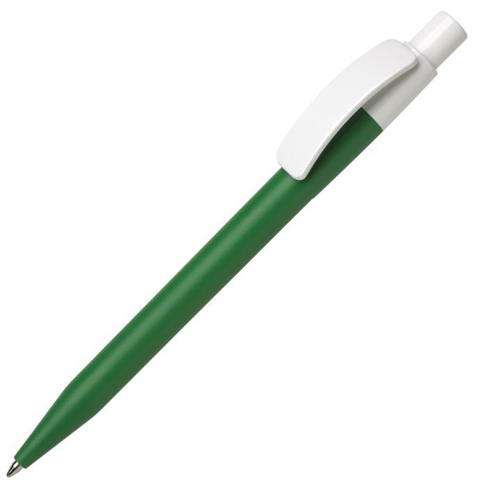 Ручка шариковая PIXEL, элементы белые, корпус зелёный