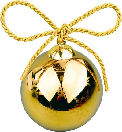 """Рождественский шарик Versace """"Gold"""", диаметр 9 см, в подарочной коробке"""