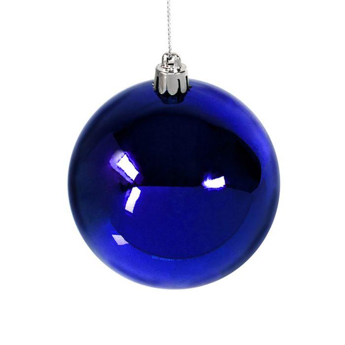 Шар новогодний GLOSS, диаметр 8 см, цвет синий