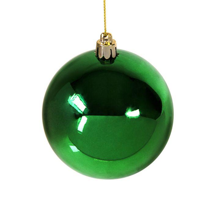 Шар новогодний GLOSS, диаметр 8 см, цвет зелёный