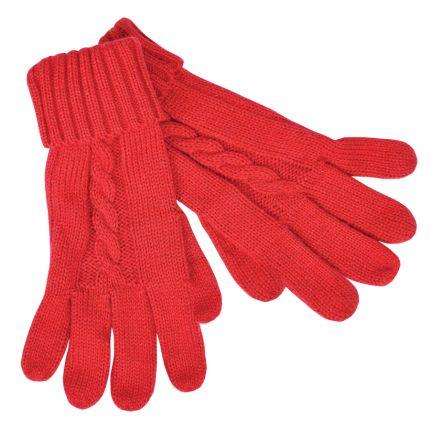 """Перчатки сенсорные """"Irish"""", размер М, акрил/хлопок, цвет красный"""